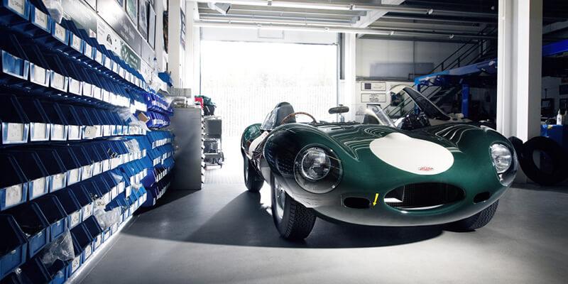 Η Jaguar D-Type στο θρυλικό British Racing Green.